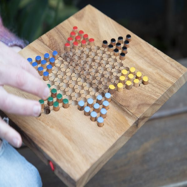 Chinese Checkers in hand
