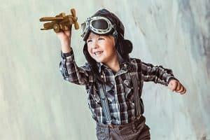 Boy with Airplane Junior