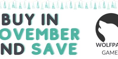 Buy in November and Save!